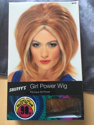 Ladies Ginger Spice Wig Girl Power Decades Pop 80's Adult Fancy Dress Accessory • 0.99£