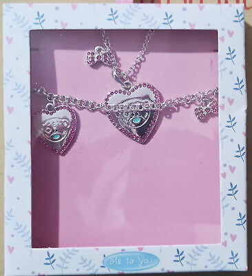 £7.50 • Buy Me To You Bear Heart Necklace And Bracelet Gift Set - RRP £14.99
