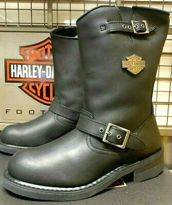 $ CDN36.26 • Buy Harley-Davidson Men Size 8 1/2 M Black Leather Motorcycle Boots Engineer D93281