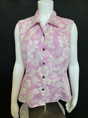 $ CDN22.96 • Buy Womens Harley Davidson White/pink Button Up Sleeveless Shirt Size L