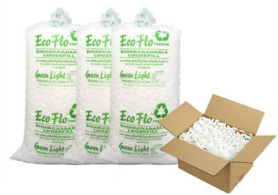 £13.49 • Buy Biodegradable Loose Fill Void Filling Filler Eco Packing Peanuts Chips Bag FREE