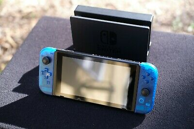 $ CDN314.39 • Buy Nintendo Switch Console W/ Joycons, Dock, Accessories - Custom Transparent Blue!