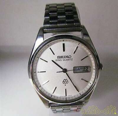 $ CDN471.59 • Buy SEIKO KING QUARTZ 9923-7020 Day-Date Quartz White Dial Watch