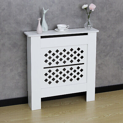 £29.90 • Buy White Radiator Cover Wall Cabinet Wood MDF Grill Shelf Wood Modern Furniture S