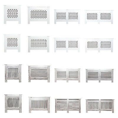 £29.90 • Buy Modern Radiator Cover Wall Cabinet MDF Wood Grill Shelf Traditional Furniture