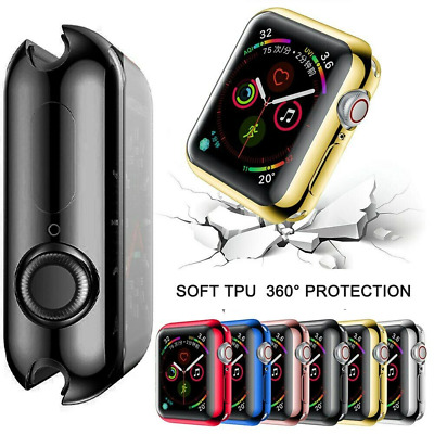 $ CDN4.24 • Buy For Apple Watch Series 6 5 4 Full Body TPU Case Cover Screen Protector 40mm 44mm