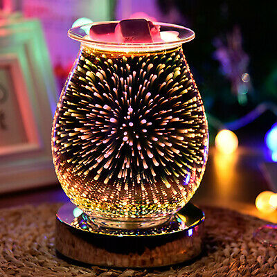 £10.99 • Buy 3D Glass Electric Wax Warmer Aroma Touch Lamp Oil Burner Diffuser Firework