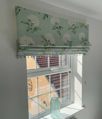 £140 • Buy Laura Ashley Heligan Eau De Nil Made To Measure Interlined Trimmed Roman Blind