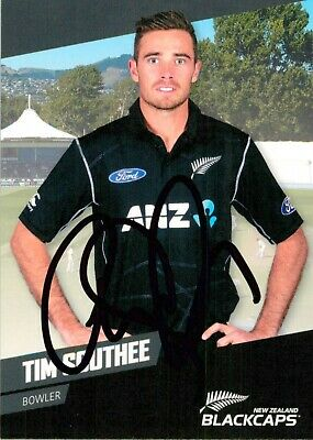 AU14.99 • Buy ✺Signed✺ 2016 2017 NEW ZEALAND Cricket Card TIM SOUTHEE BBL