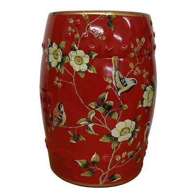 £115 • Buy Red Oriental Chinese Ceramic Porcelain Stool Side Table Plant Stand Floral 45cm