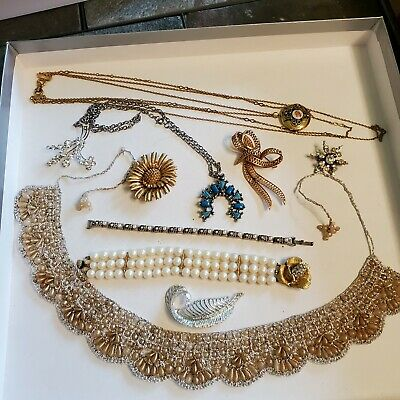 $ CDN12.13 • Buy 10 Pieces Of Vintage Jewelry - Several Signed (Lot 29)