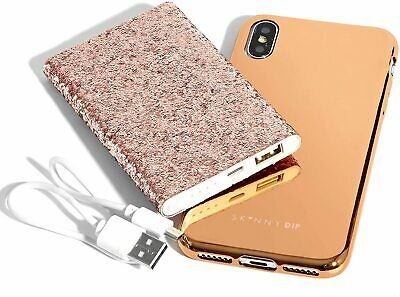 AU16.30 • Buy Skinny Dip Apple IPhone 6 6S Gold Case And USB Battery Charger Gift Set