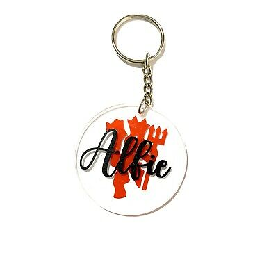 £3.95 • Buy Personalised Keyring Name Gifts Manchester United Dad Present Father's Day Gift