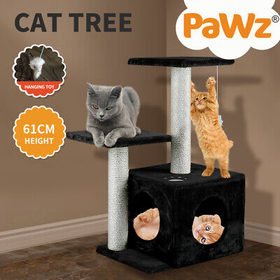 AU35.99 • Buy PaWz 61CM Cat Scratching Post Tree Gym House Condo Furniture Scratcher Tower