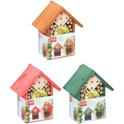 £8.99 • Buy Wooden Insect Bug Hotel House Outdoor Garden Natural Shelter Bees Flies Ladybird