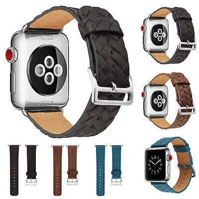$ CDN9.36 • Buy For Apple Watch Soft Leather Band IWatch Strap Series 5 4 3 2 38/40mm/42mm/44mm