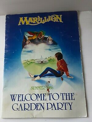 £18 • Buy Marillion: Welcome To The Garden Party Summer 1986 Tour Programme