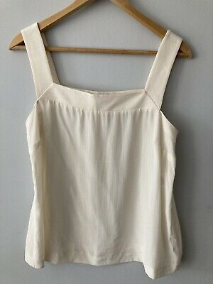 £6.80 • Buy Jaeger Cream Silk Camisole Style Sleeveless Top Size 12