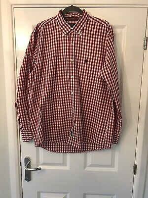 £23 • Buy Polo By Ralph Lauren Gingham Red & White Smart Shirt Size XL BNWOT