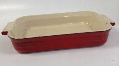 £9.99 • Buy Vintage Le Creuset Burnt Red Rectangular Casserole Dish Stoneware MM3 26 30x18cm