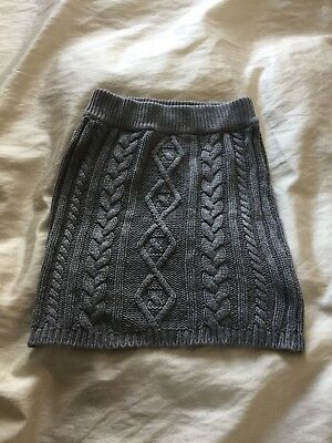 £5 • Buy Hooch Girls 12-13  Cable Knitted Grey Skirt BNWOT