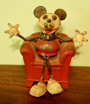 £1521.08 • Buy Disney German Made Ca.1932 Mickey Mouse In Metal Chair-  Very Rare!