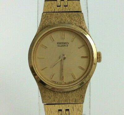 $ CDN30.96 • Buy Vintage Seiko Ladies Watch Gold Tone Petite Safety Chain 6.5  New Battery