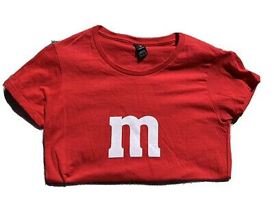 $ CDN2.43 • Buy Red Womens Cut M&M T-shirt Halloween Costume