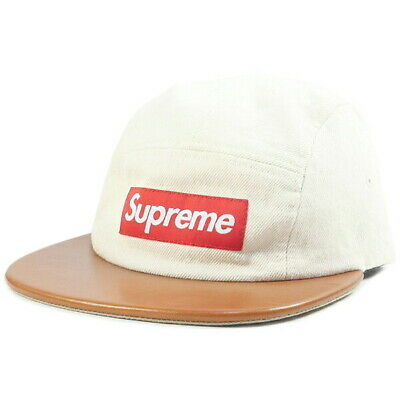 $ CDN236.56 • Buy SUPREME 15SS Expedition Leather Visor Camp Cap WHITE FREE