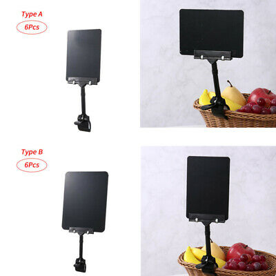 £23.19 • Buy 6 Chalkboard Clips-on Rotating Sign Holder Label Display Price Tag Holder Stand