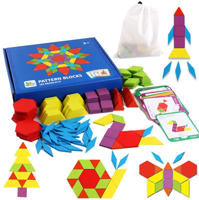 £17.68 • Buy Educational Toys For 3-8 Year Old Boys, Wooden Pattern Blocks Puzzles For Kids