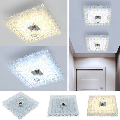 £10.88 • Buy Square Gorgeous LED Crystal Ceiling Down Light Panel Wall Kitchen Bathroom Lamp