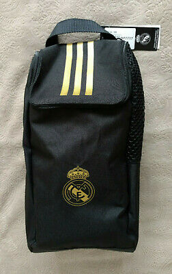£14.35 • Buy Adidas Real Madrid Sport Bag Shoe Balls Accessories Golf Backpack Black Gold New