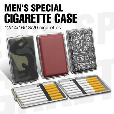 £3.61 • Buy Metal Leather Cigarette Tobacco Storage Case Box Holder Pouch Extra Slim Boxes