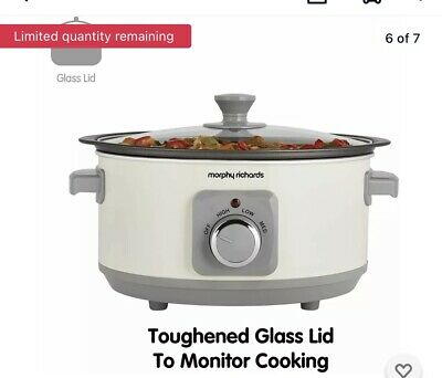 £28.99 • Buy Morphy Richards Slow Cooker Sear And Stew 460013 3.5L Cream Slowcooker