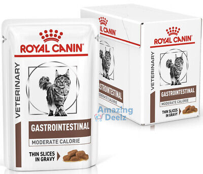 £16.49 • Buy Royal Canin Gastro Intestinal Moderate Calorie 12x85g Pouches For Cats