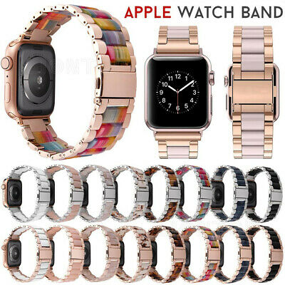 $ CDN25.46 • Buy Rainbow Stainless Steel Resin Wrist Strap Band For Apple Watch Series 6 5 4 3 2