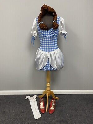 $ CDN30.67 • Buy Complete Dorothy Costume & Accessories Small Ex Hire Fancy Dress Costume Cosplay