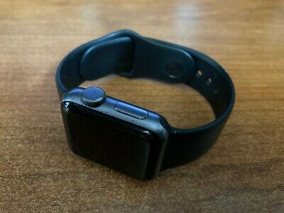 $ CDN54.59 • Buy Apple Watch Series 2 38mm GPS Space Gray A1757 FOR PARTS IC LOCKED Screen Locked