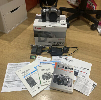 £61.99 • Buy Canon EOS 300D Silver 6.3mp DSLR  With Accessories Camera