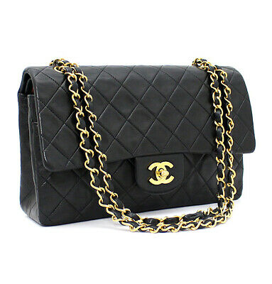 £2738.06 • Buy CHANEL Quilted Lambskin Classic 25 Double Flap Chain Shoulder Bag Black #53768