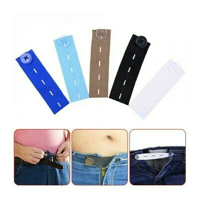 £3.99 • Buy Adjustable Elastic Waist Extenders With Button Waistband Expander Set For Jeans