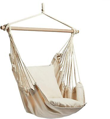 £53.99 • Buy Hanging Chair – Swinging Hammock With Cushioned Seat – Swing Chair G
