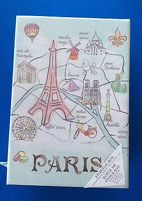 £5 • Buy Paris/Balloon Design Organiser Storage Photos Box +10 Divider Cards-New