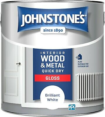 £14.99 • Buy Johnstone's Quick Dry Gloss Interior Wood & Metal - White - All Sizes