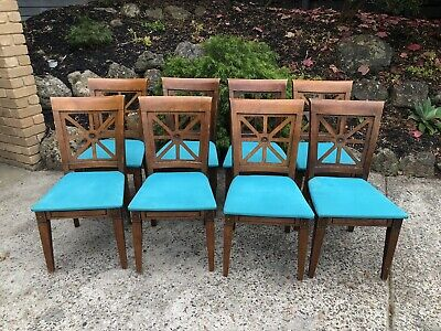 AU160 • Buy Antique Style Timber Dining Chairs X 8