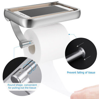 AU18.99 • Buy Wall Mounted Toilet Paper Holder Tissue Roll Dispenser With Phone Storage