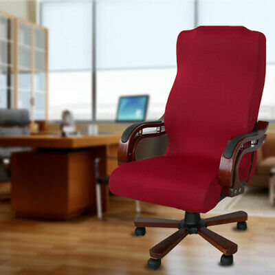 AU16.04 • Buy Office Chair Cover Solid Elastic Stretchable Universal Anti Slip Computer Seat