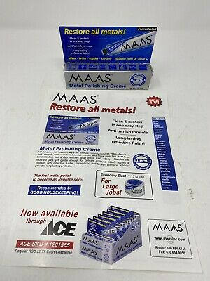 $18.99 • Buy MAAS Metal Fine Polishing Concentrated Creme 2 Oz Tube All Metals-Made In USA