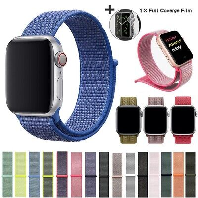 $ CDN5.06 • Buy Nylon WOVEN Sport Loop Band For Apple Watch IWatch 38/42/40/44mm Series 5/4/3/2